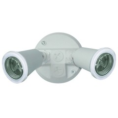 55-014 Twin PVC Lamp Holder Pack E27 (White)