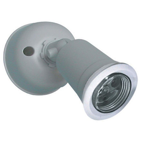 55-016 Single Pvc Lamp Holder Pack E27 (White)